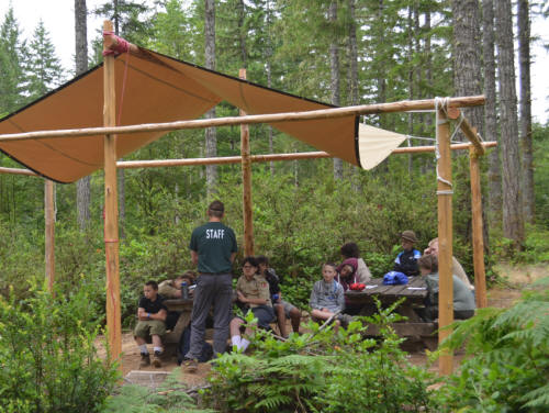 Click to find out more about Outdoor Skills Merit Badge Area
